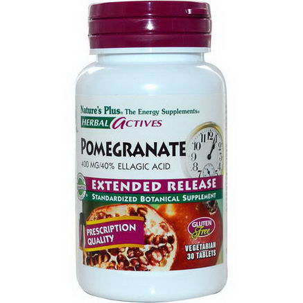 Nature's Plus, Herbal Actives, Pomegranate, Extended Release, 400mg, 30 Tabs