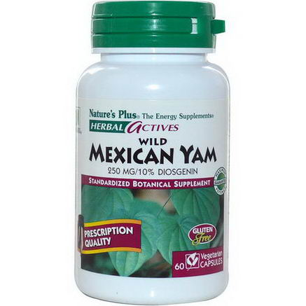 Nature's Plus, Herbal Actives, Wild Mexican Yam, 250mg, 60 Veggie Caps