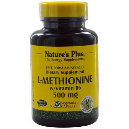 Nature's Plus, L-Methionine w/Vitamin B6, 500mg, 60 Veggie Caps