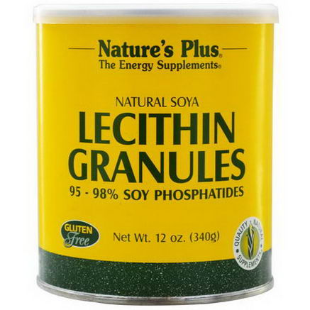 Nature's Plus, Lecithin Granules, Natural Soya, 12oz (340g)