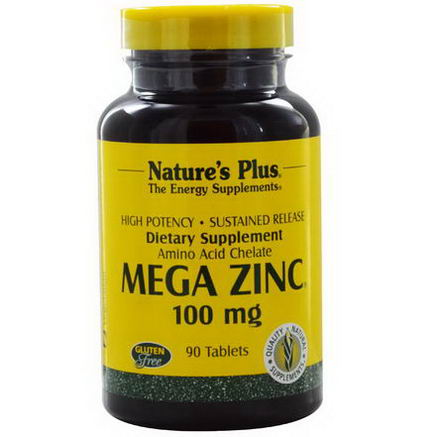 Nature's Plus, Mega Zinc, 100mg, 90 Tablets
