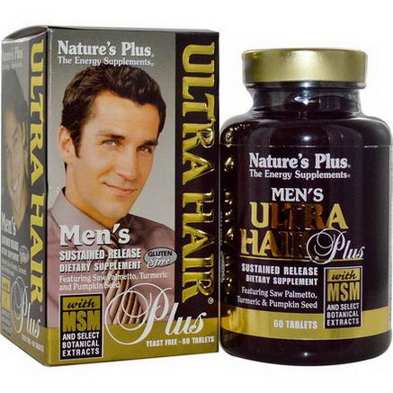 Nature's Plus, Men's Ultra Hair Plus, With MSM and Select Botanical Extracts, 60 Tablets