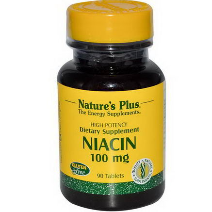 Nature's Plus, Niacin, 100mg, 90 Tablets