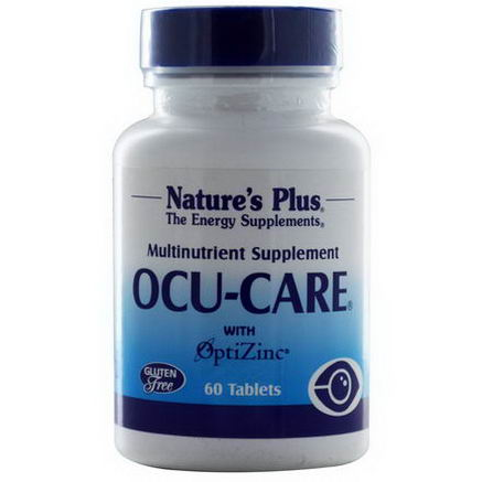 Nature's Plus, Ocu-Care with OptiZinc, 60 Tablets