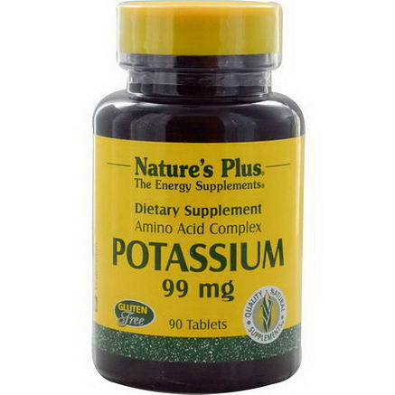 Nature's Plus, Potassium, 99mg, 90 Tablets