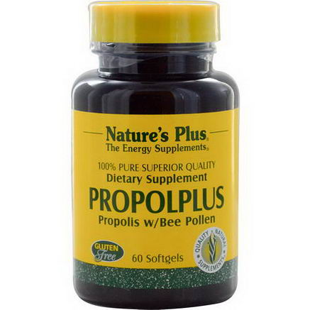 Nature's Plus, Propolplus, Propolis w/Bee Pollen, 60 Softgels
