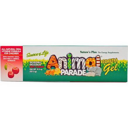 Nature's Plus, Source of Life, Animal Parade, Tooth Gel, Very-Cherry, 4.5oz (127.5g)