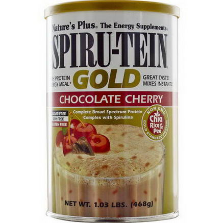 Nature's Plus, Spiru-Tein Gold, High Protein Energy Meal, Chocolate Cherry, 1.03 lbs (468g)