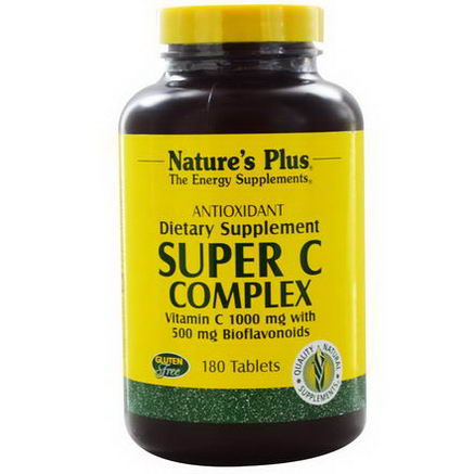 Nature's Plus, Super C Complex, 1000mg, 180 Tablets