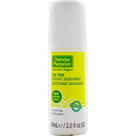 Nature's Plus, Thursday Plantation, Tea Tree Organic Deodorant, 2.0 fl oz (60 ml)