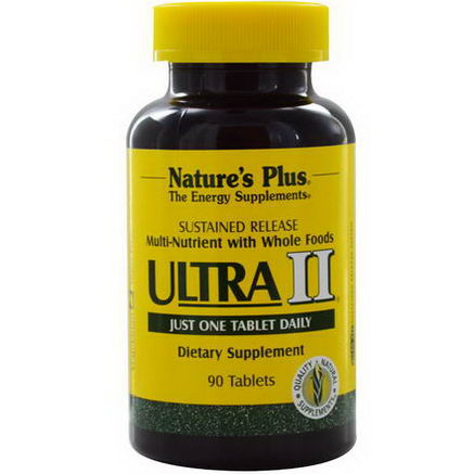 Nature's Plus, Ultra II, Multi-Nutrient with Whole Foods, 90 Tablets