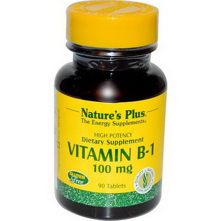 Nature's Plus, Vitamin B-1, 100mg, 90 Tablets
