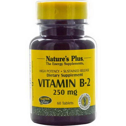 Nature's Plus, Vitamin B-2, 250mg, 60 Tablets