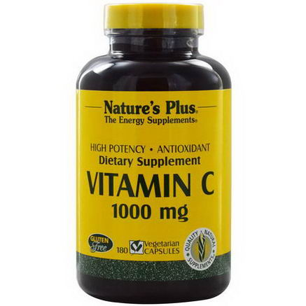 Nature's Plus, Vitamin C, 1000mg, 180 Veggie Caps