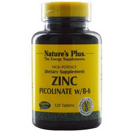 Nature's Plus, Zinc Picolinate w/B-6, 120 Tablets