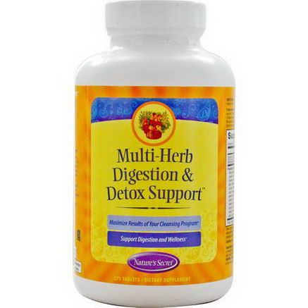 Nature's Secret, Multi-Herb Digestion & Detox Support, 275 Tablets