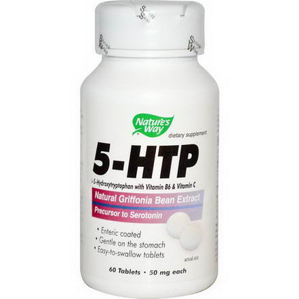 Nature's Way, 5-HTP, 50mg Each, 60 Tablets