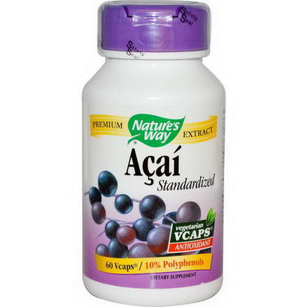 Nature's Way, Acai, Standardized, 60 Vcaps