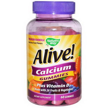 Nature's Way, Alive! Calcium Gummies, 60 Gummies