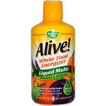 Nature's Way, Alive, Liquid Multi, Vitamin & Mineral, Natural Citrus Flavor, 30 fl oz (900 ml)