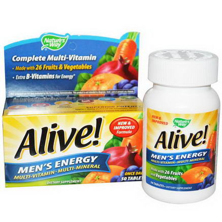 Nature's Way, Alive, Men's Energy Multivitamin-Multimineral, 50 Tablets