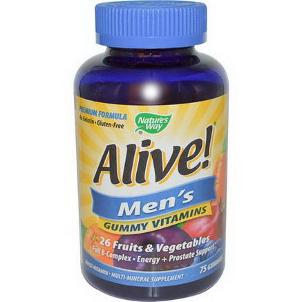 Nature's Way, Alive! Men's Gummy Vitamins, 75 Gummies