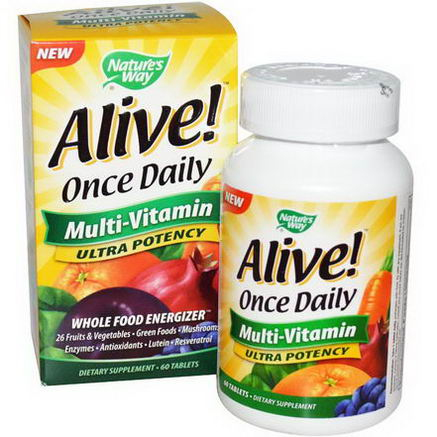 Nature's Way, Alive, Once Daily, Multi-Vitamin, 60 Tablets