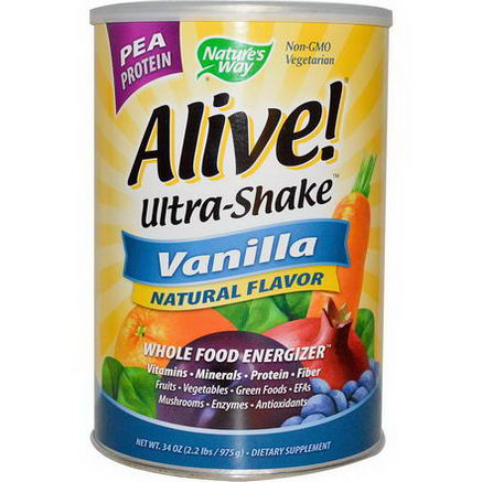 Nature's Way, Alive! Ultra-Shake, Vanilla, 34oz (975g)