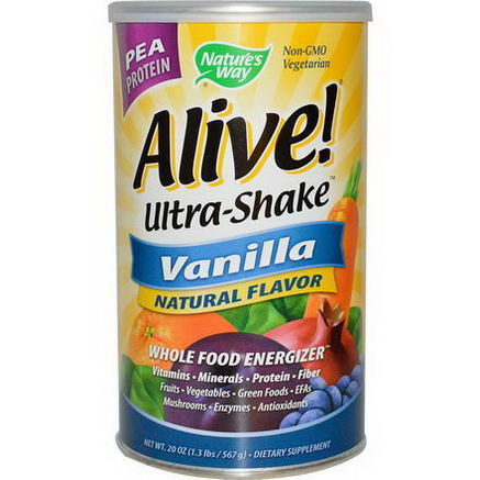 Nature's Way, Alive! Ultra Shake, Vanilla Flavor, 21oz (585g)