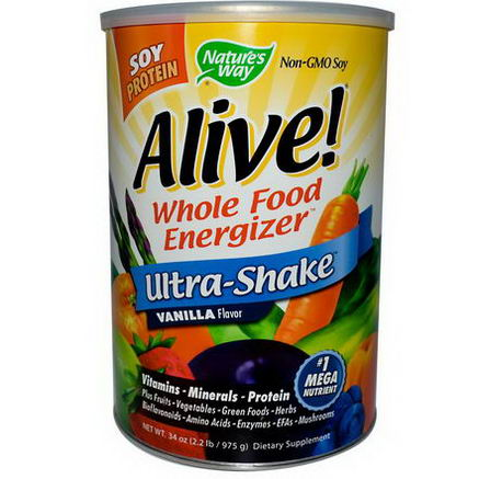 Nature's Way, Alive! Ultra-Shake, Vanilla Flavor, 34oz (975g)
