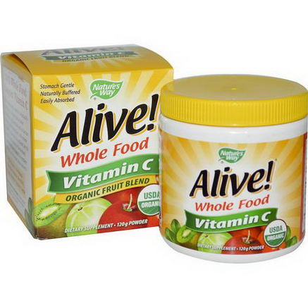 Nature's Way, Alive, Vitamin C, Powder, 120g