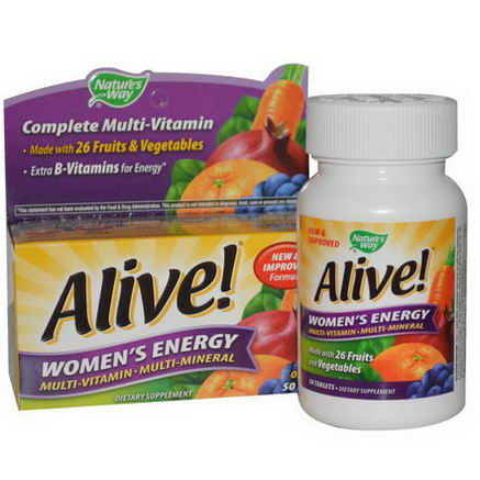 Nature's Way, Alive, Women's Energy, Multivitamin-Multimineral, 50 Tablets