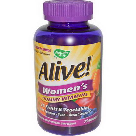 Nature's Way, Alive! Women's Gummy Vitamins, 75 Gummies