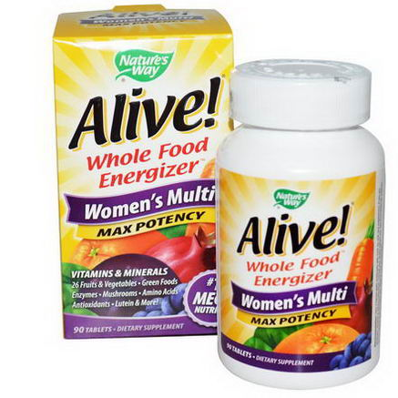 Nature's Way, Alive, Women's Multi, Max Potency, 90 Tablets