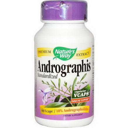 Nature's Way, Andrographis, Standardized, 60 Vcaps