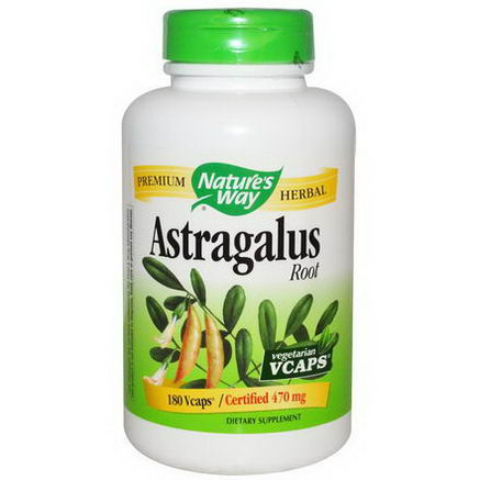 Nature's Way, Astragalus Root, 470mg, 180 Vcaps