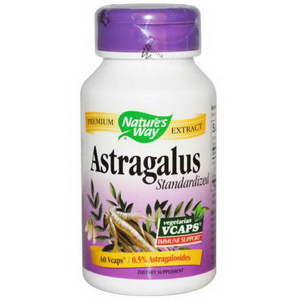 Nature's Way, Astragalus Standardized, 60 Vcaps
