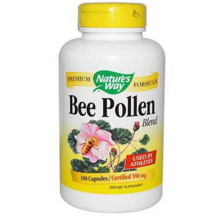 Nature's Way, Bee Pollen Blend, 580mg, 180 Capsules