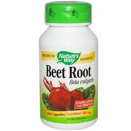Nature's Way, Beet Root, 500mg, 100 Capsules