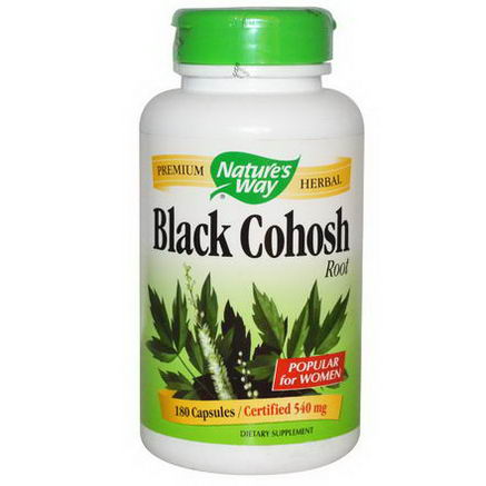 Nature's Way, Black Cohosh Root, 540mg, 180 Capsules