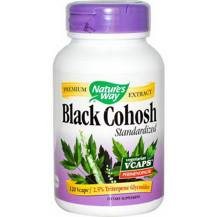 Nature's Way, Black Cohosh Standardized, 120 Vcaps