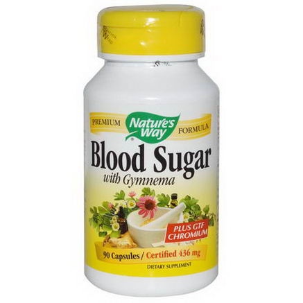 Nature's Way, Blood Sugar, With Gymnema, 436mg, 90 Capsules