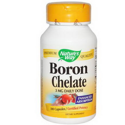 Nature's Way, Boron Chelate, 3mg, 100 Capsules