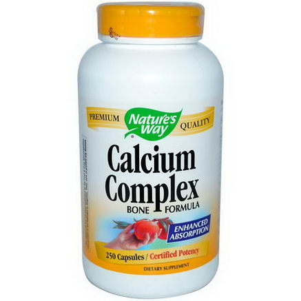 Nature's Way, Calcium Complex, Bone Formula, 250 Capsules