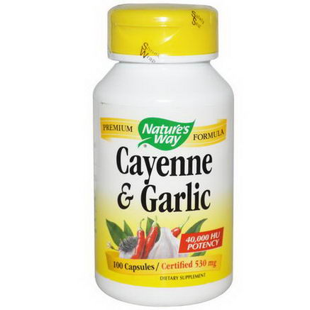 Nature's Way, Cayenne & Garlic, 530mg, 100 Capsules