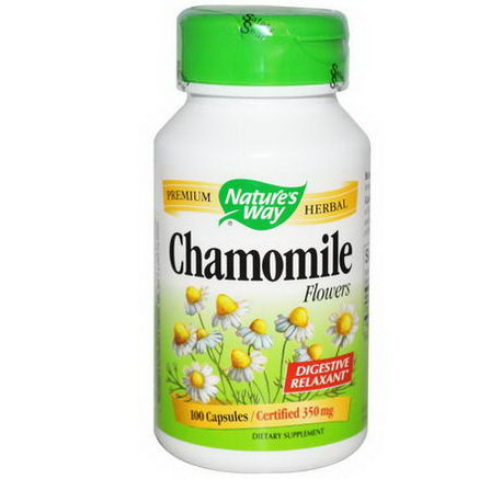 Nature's Way, Chamomile Flowers, 350mg, 100 Capsules