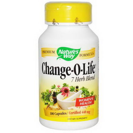 Nature's Way, Change-O-Life, 7 Herb Blend, 440mg, 100 Capsules