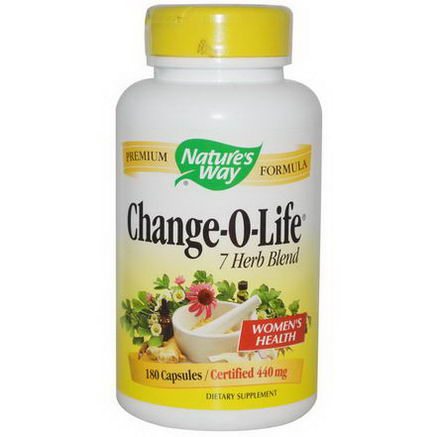 Nature's Way, Change-O-Life, 7 Herb Blend, 440mg, 180 Capsules
