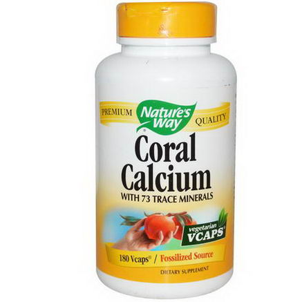 Nature's Way, Coral Calcium, 180 Vcaps
