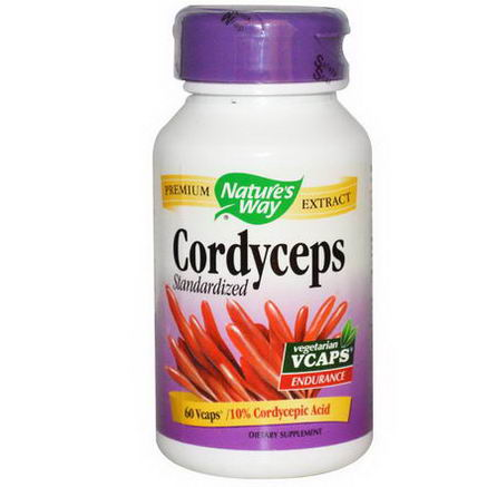 Nature's Way, Cordyceps, Standardized, 60 Vcaps